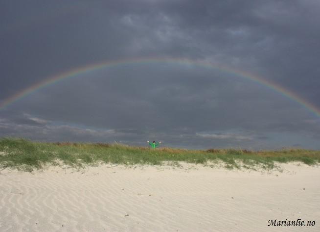 Isak og regnbue
